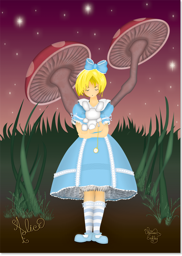 Alice in the Mushroom Forest image