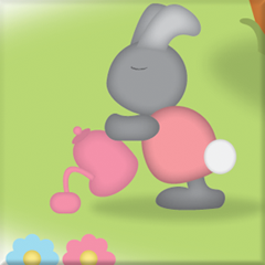 Papa bunny image