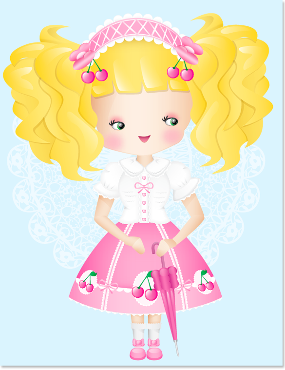 Cherry Princess Sweet Lolita Illustration image