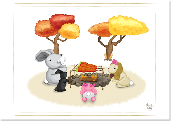 Fall campfire image